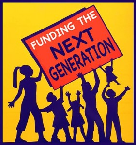 Funding the Next Generation logo